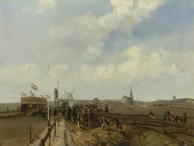 The Race Track At Scheveningen Poster by Charles Rochussen