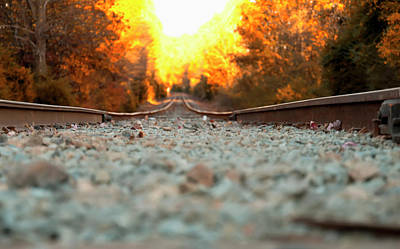 The Railroad Tracks From A New Perspective Poster by Chris Flees