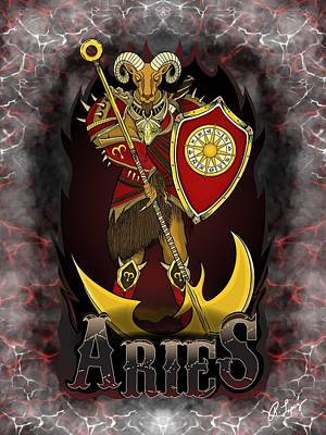 The Ram Aries Spirit Poster