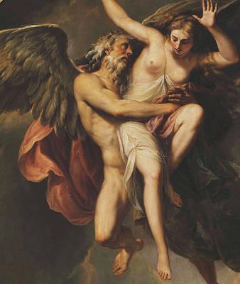 The Rape Of Oreithyia Poster by Giovanni Battista Cipriani
