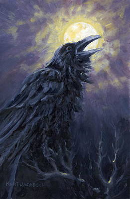 Poster featuring the painting The Raven Called My Name by Kurt Jacobson