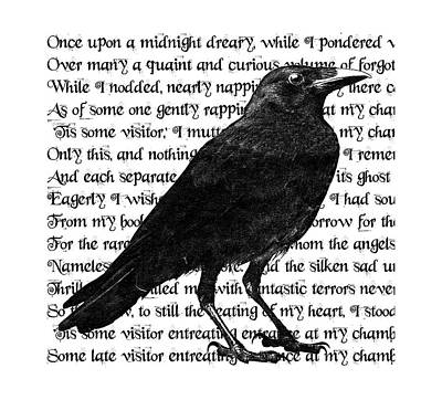 The Raven Poem Art Print Poster by Sandra McGinley