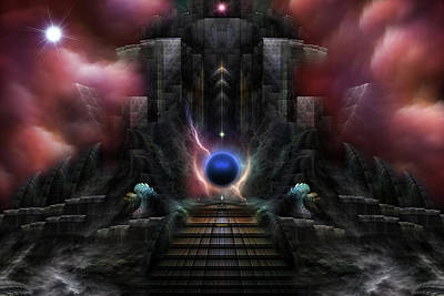 The Realm Of Osphilium Fractal Composition Poster