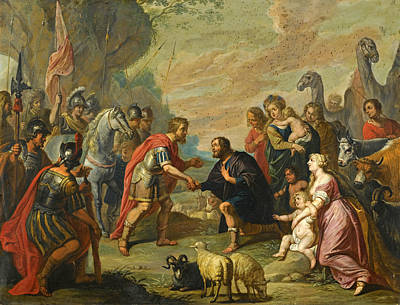 The Reconciliation Of Esau And Jacob Poster