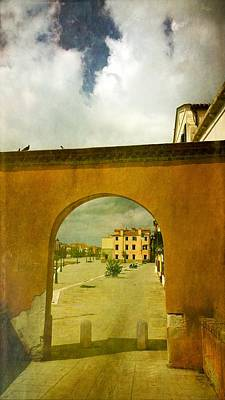 The Red Archway Poster by Anne Kotan