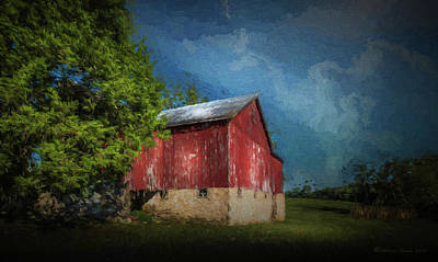 Poster featuring the photograph The Red Barn by Marvin Spates