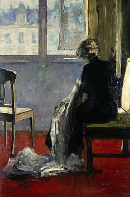 The Red Carpet  Poster by Lesser Ury