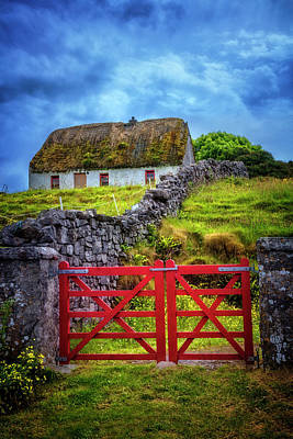 The Red Farm Gate In  Ireland Poster