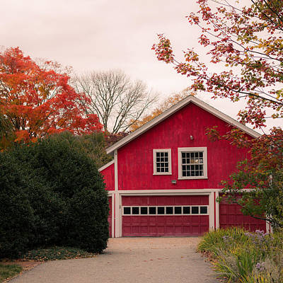 The Red Garage Poster by Kirkodd Photography Of New England