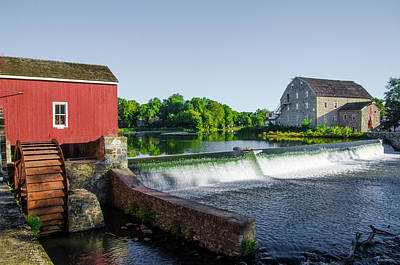 The Red Mill  On The Raritan River - Clinton New Jersey  Poster by Bill Cannon