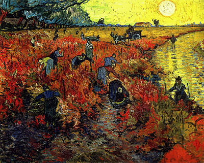 Poster featuring the painting The Red Vineyard At Arles by Van Gogh