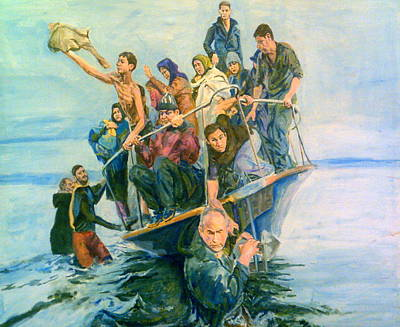 The Refugees Seek The Shore Poster