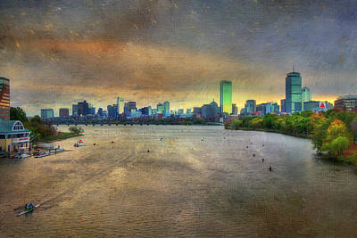 Poster featuring the photograph The Regatta - Head Of The Charles - Boston by Joann Vitali
