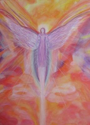 The Reiki Angel Poster by Silvia Flores
