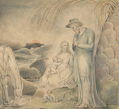 The Rest On The Flight Into Egypt Poster by William Blake