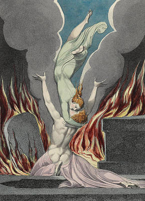 The Reunion Of The Soul And The Body Poster by Sir William Blake