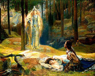 The Revelation Poster by Gaston Bussiere