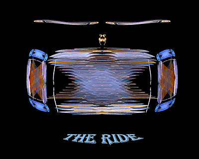Poster featuring the digital art The Ride by R Thomas Brass