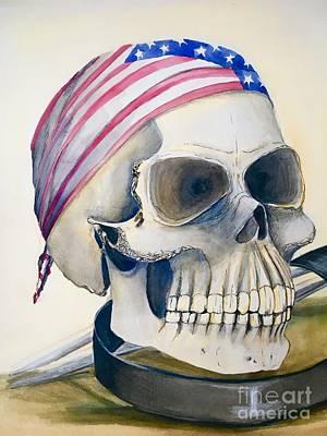 The Rider's Skull Poster