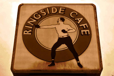 The Ringside Cafe Poster by David Lee Thompson