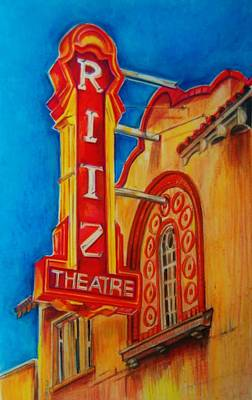 The Ritz Theatre In Winter Haven Poster by Jean Cormier