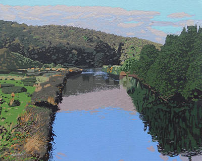 The River Tame Poster by Malcolm Warrilow