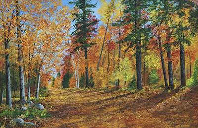 Poster featuring the painting The Road Less Traveled by Ken Ahlering