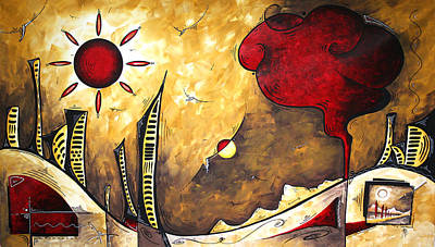 The Road To Life Original Madart Painting Poster by Megan Duncanson