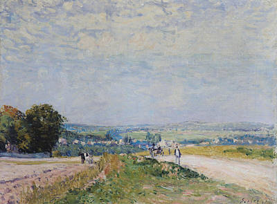 The Road To Montbuisson At Louveciennes Poster by Alfred Sisley