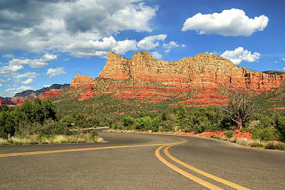 The Road To Sedona Poster by James Eddy