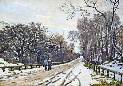 The Road To The Farm Of St. Simeon Poster by Monet