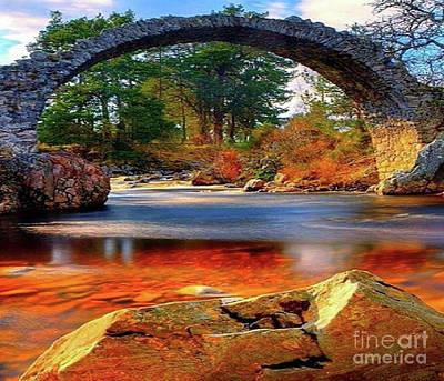 The Rock Bridge Poster by Rod Jellison