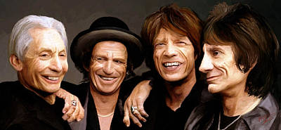 Poster featuring the painting The Rolling Stones by James Shepherd