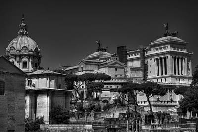 Poster featuring the photograph The Roman Forum 002 Bw by Lance Vaughn