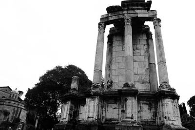 The Roman Forum Black And White Poster by Sierra Vance