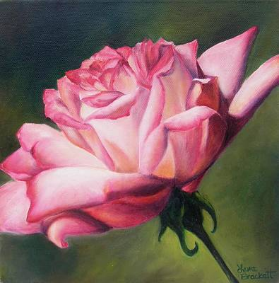 Poster featuring the painting The Rose by Lori Brackett