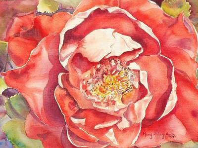 Poster featuring the painting The Rose by Mary Haley-Rocks