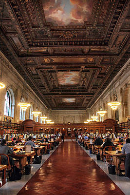 Poster featuring the photograph The Rose Reading Room II by Jessica Jenney