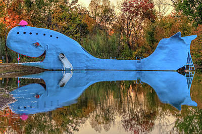 Poster featuring the photograph The Route 66 Blue Whale - Catoosa Oklahoma - IIi by Gregory Ballos