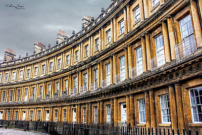 Poster featuring the photograph The Royal Crescent, Bath by Wallaroo Images
