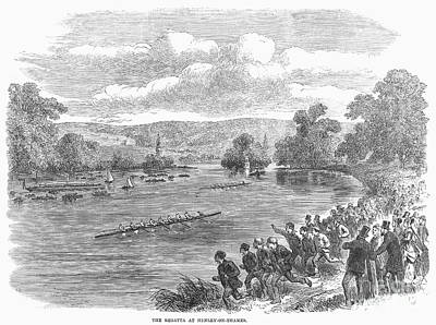 The Royal Henley Regatta At Henley-on Thames. Wood Engraving, English, 1869 Poster