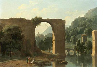 The Ruins Of The Bridge Of Augustus At Narni Poster