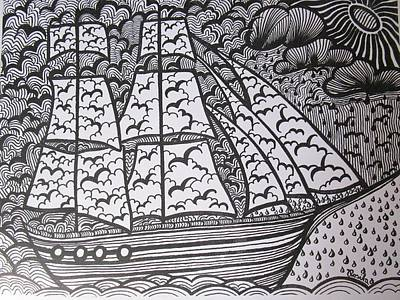 The Sailing Ship Poster by Rosita Larsson