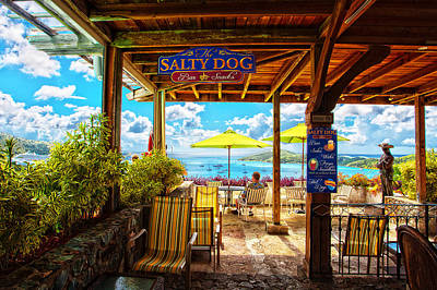 The Salty Dog Cafe St. Thomas Poster