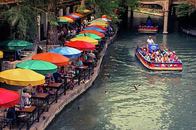The San Antonio Riverwalk - Texas Art Poster by Gregory Ballos