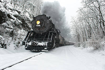 Poster featuring the photograph The Santa Express by Bernard Chen
