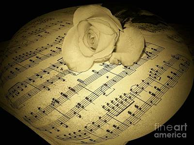 The Schubert Rose In Sepia Poster by Joyce Kimble Smith