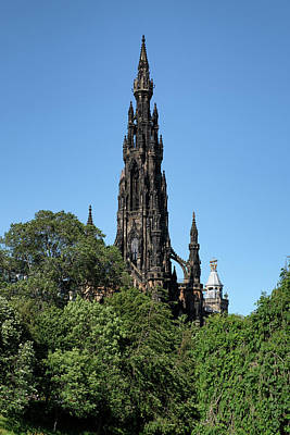 Poster featuring the photograph The Scott Monument In Edinburgh, Scotland by Jeremy Lavender Photography