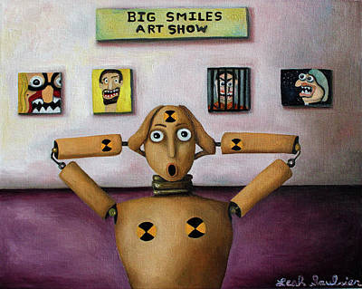 The Scream At The Big Smiles Art Show Poster by Leah Saulnier The Painting Maniac