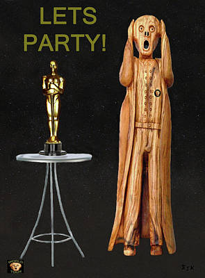 The Scream World Tour Oscars Lets Party Poster by Eric Kempson